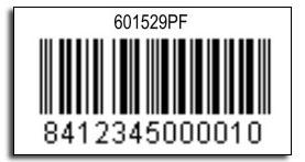 SYSSA Código de barras