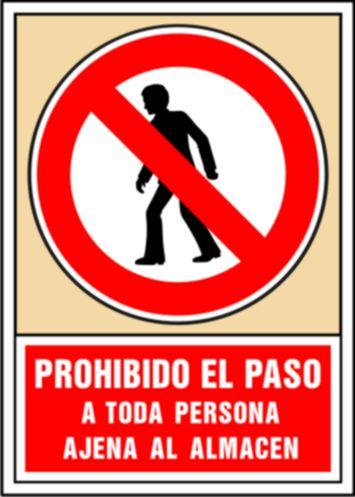 Prohibido el paso a toda persona ajena al almac n syssa for El jardin prohibido restaurante