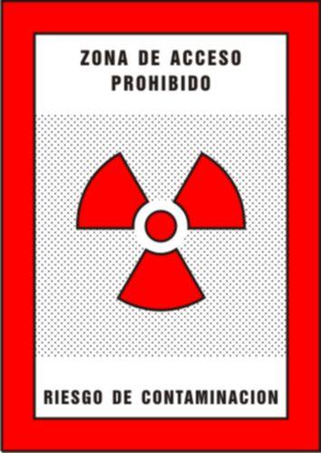 zona de acceso prohibido irradiacion